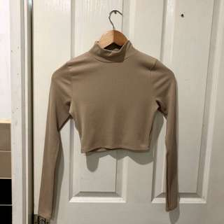 Misguided turtleneck crop top