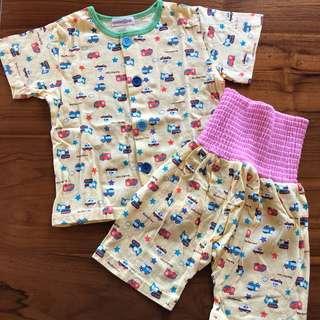 日本帶回 幼兒純棉居家服 護肚套裝