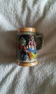Vintage German Foreign Mini Stein Ceramic Mug