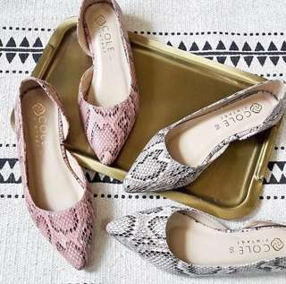 Cole Vintage Lucca Flats PINK