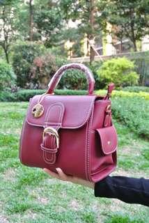 代理T.U. Handbag Korea Style Red Sharp  韓系 女裝 手袋 女包 時尚大方 紅色 輕便易襯 206