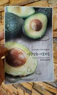 Nature Republic face mask avocado
