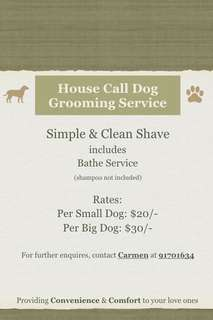 House Call Dog Grooming Service