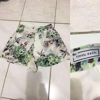 TINSEL RACK Floral Chiffon Shorts