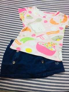 Combo shirt & skirt