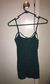 green strap top