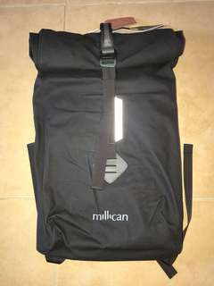 New Millican Smith the Roll Pack 18L backpack weatherproof 防水背包 graphite black New bionic canvas Urban walking biking hiking travelling
