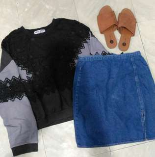 Thick embroidered pullover