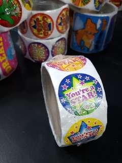 [INSTOCK] BN Roll of You're a STAR! Reward/Merit Stickers (Oriental Trading)