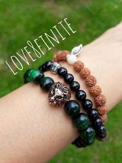 """Eye of the tiger"" Green Tiger's Eye crystal bracelet"