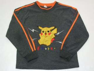 🚚 二手~童裝 神奇寶貝 皮卡丘 (寶可夢) 長袖 T恤 上衣  #五十元好物