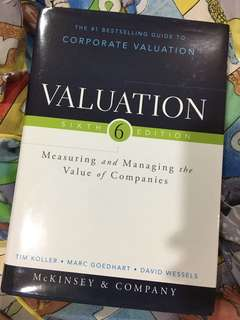 AUTOGRAPHED Corporate Valuation 6th Ed McKinsey & Co