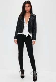 Misguided black faux leather jacket