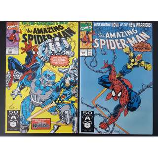 Amazing Spider-Man #351,#352 (1991, 1st Series) Set of 2, Guest-starring Nova! All-Time Favorite Spidey Artist Mark Bagley!