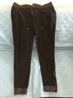 Black Jogger Pants (with zipped under)