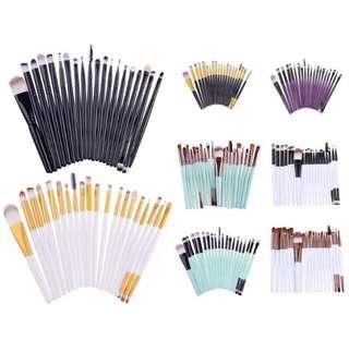 20 pcs professional make up brush set ❤️ ONHAND( White Gold)