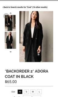 Fashmob Adora Coat Black