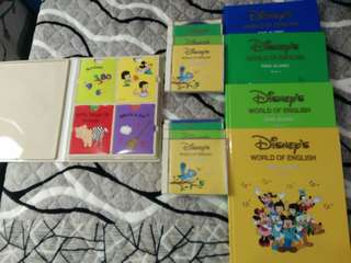 寰宇迪士尼DISNEY'S WORLD OF ENGLISH (SING ALONG  BOOK1~4,CD8片,CARDS1組)