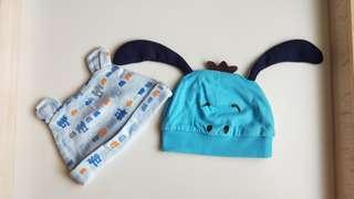 🚚 🎉全新嬰兒帽子2頂