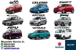 Suzuki Mitsubishi Toyota Hyundai Low Downpayment High Discount Call or Text 0995-821-8543 / 0919-202-4955