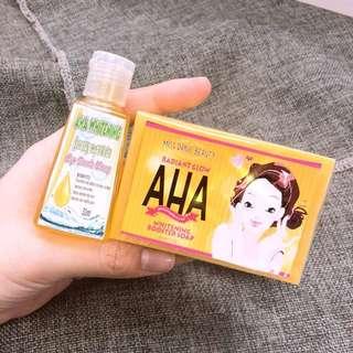 Aha set soap and serum