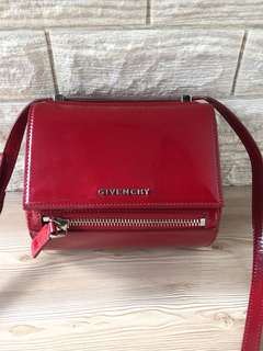 Authentic Givenchy Pandora Box Mini Red Patent Leather