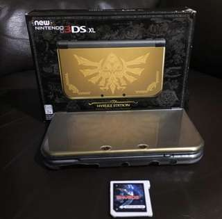 New Nintendo 3DS XL (Hyrule Edition) with Sky3DS+