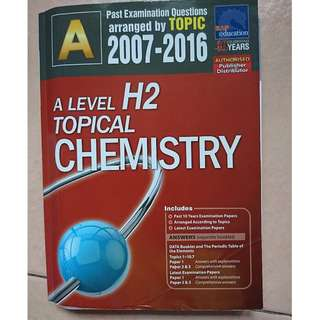 A level Past Examination Questions H2 Topical Chemistry
