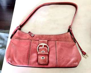 [70% New] Lady Shoulder Bag Real Leather Red