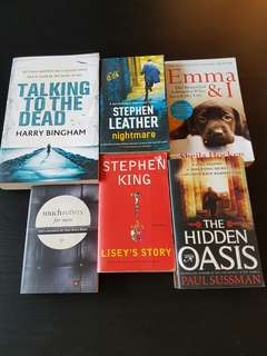 ❤SALE!!! 6 books $10 only Stephen King/Stephen Leather etc