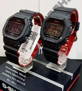 DEADPOOL🌟THEME COUPLE PAIR SET GSHOCK 200M DIVER SPORTS CASIO WATCH : 1-YEAR OFFICIAL WARRANTY: 100% Originally Authentic G-SHOCK Resistant In Best For Most Rough Users & Unisex: DW-5600HR ✅DW-5600 / DW5600 / DW5600HR / DW-5600BB