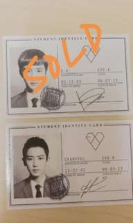 exo original photocard (chanyeol)