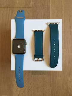 Apple Watch with Leather & Sports Buckle