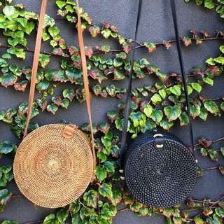 Round Straw Bag - 2 Sizes