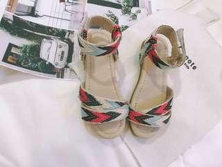 韓版 春夏新款 女童波希米亞民族渡假風涼鞋