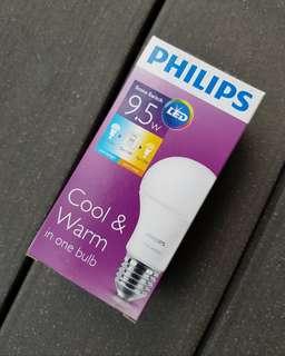 Philips LED E27 Warm 2700k n White 6500k Light (FIXED PRICE)