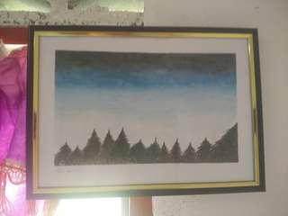 Handmade Painting - 'Night Sky'