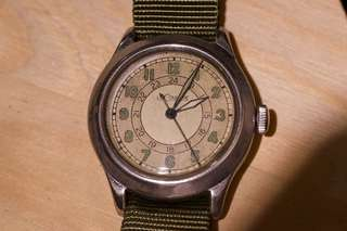 WWII LeCoultre 24hr military watch Cal 450 not iwc omega seiko