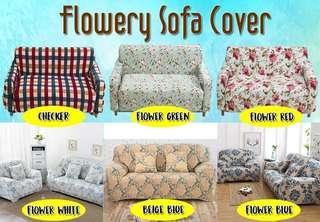 FLOWERY SOFA COVER
