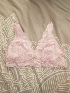 Peter Alexander pink lace bralette