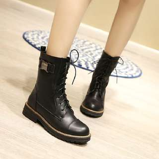Size 33-43 Martin Chunky Heels High Boots