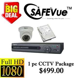 Safevue 1080P X1pcs CCTV package