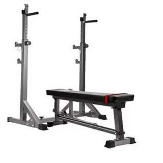 Adjustable Lifting Rack Squat with utility bench