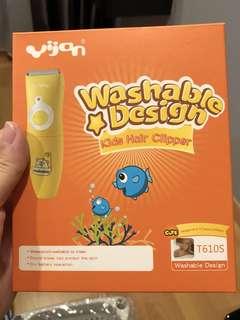 Yijan kid's washable hair clipper/ shaver/ cutter
