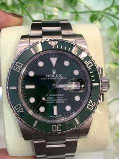 Rolex Green Submariner 116610LV HULK