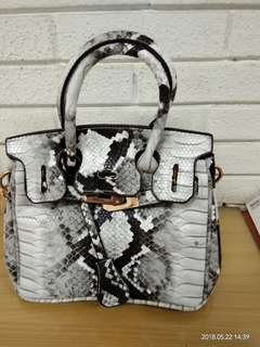 Tas Motif  Gray - White (New)
