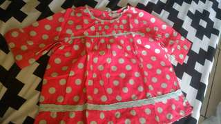 Dress anak Curly