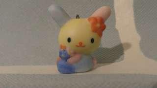 Usahana 彩虹兔 Sanrio 絕版 陶器 擺設 吊飾 掛飾 罕 vintage