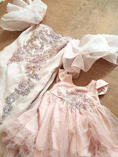Gaun Soft Pink Mommy & Carolbelle