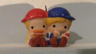 Parrt & Jimmy P&J pnj Sanrio 絕版 陶器 擺設 吊飾 掛飾 罕 vintage